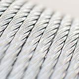 [DQ-PP] 10 m Drahtseil 2mm TOP ARTIKEL 6x7 Stahlseil verzinkt Drahtseil Seil Stahl Draht Forstseil Windenseil