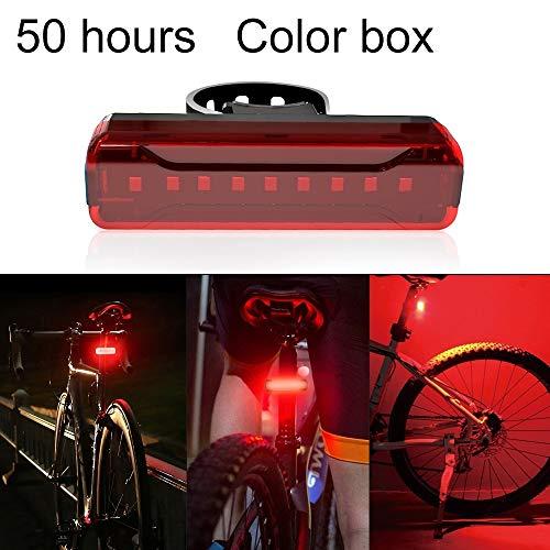 Fietslamp USB A02 Fiets achterlicht fiets fiets fiets fiets elektrische voertuig mountainbike LED oplader veiligheidswaarschuwing (50 uur)