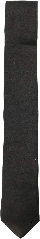 Dion Men's Black Pure Silk Necktie Bow Tie - One Size