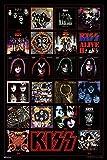 Kiss Poster Album Covers Records Vinyl Destroyer Kiss Band Merchandise Kiss Collectibles Kiss Memorabilia Heavy Metal Music Merch 1970s Retro Vintage Makeup Cool Wall Decor Art Print Poster 24x36
