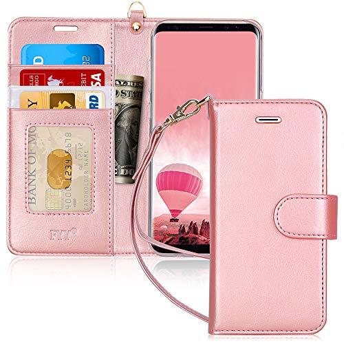 FYY Coque Samsung Galaxy S8, Coque Galaxy S8, [RFID Portefeuille Blocage] Fait Main Housse Portefeuille avec...