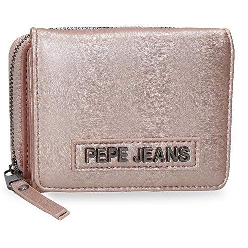 Pepe Jeans Cira Billetero con Monedero Rosa 10x8x3 cms Piel