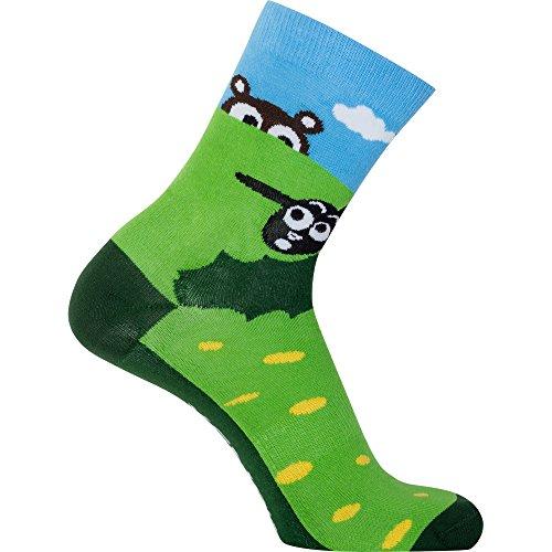 Sionyx ooohSheep grün blau Größe S Socken für Sport & Freizeit Fahrrad Bike Schaf