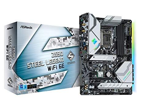 ASRock Intel 第10・11世代CPU(LGA1200)対応 Z590 チップセット搭載 ATXマザーボード 【国内正規代理店品】 Z590 Steel Legend WiFi 6E