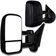 SCITOO Towing Mirrors Chevy GMC Exterior Accessories Mirrors 2008-2013 Silverado Sierra 1500 2500HD 3500 (Fit 07 New Body Style) Convex Glass Manual Controlling Telescoping Folding