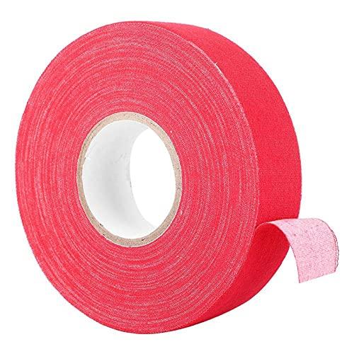 Jopwkuin Cinta, Resistente al Desgaste Buena Resistencia a la abrasión Cinta Protectora Cintas Adhesivas de Palo de Hockey para Raqueta(Rojo)