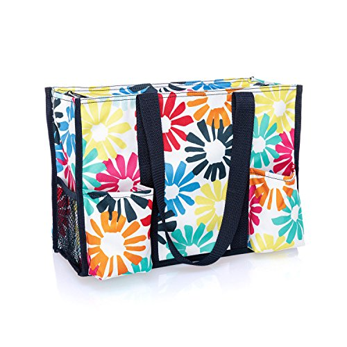 Thirty One Zip-Top Organizing Tote in Bloomin Bouquet - No Monogram - 4451