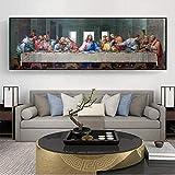 GYJDD Cuadros Decoracion Pintura Abstracta Famosa de Da Vinci La última Cena Pinturas en Lienzo Cuadros artísticos de Pared para Decoracion de Fondo de Salon de estar60x90cm x1 Sin Marco