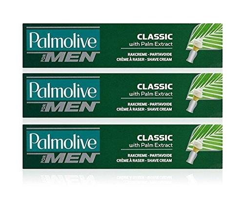 Palmolive Classic Schaum Shave Cream Rasiercreme mit Palm Extrakt 100ml (3Stück)