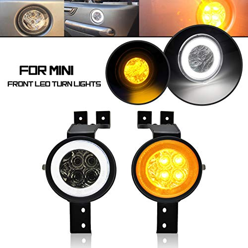AILEAD 2 IN 1 Smoke Lens LED Turn Signal Light For Mini R50 02-06 R52 04-08 R53 02-06 Parking Light Turn Signal Running Lights & Amber Turn Signal Lamps