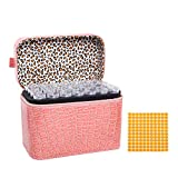 Decdeal 84 Slots Diamond Storage Box Diamond Embroidery Rhinestones Painting Accessory Jewelry Beads Organizer Carry Case Zipper Design