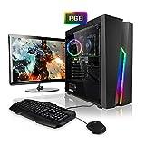 Megaport Komplett PC Gaming PC Set Intel Core i5-9400F 6x2.90GHz • 24' Bildschirm • Tastatur •...