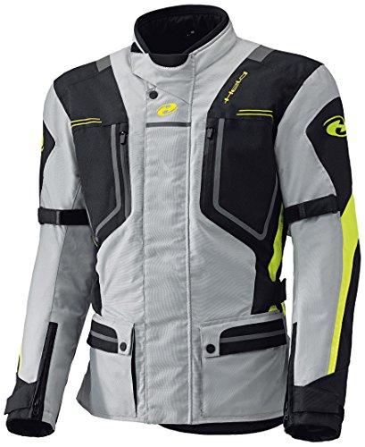 Held Zorro Motorradtextiljacke, Farbe grau-Neongelb, Größe XL