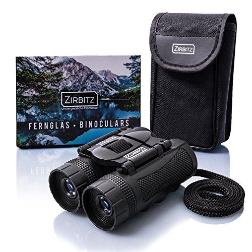 ZIRBITZ® HD Fernglas - Kleines und kompaktes Fernglas im Taschenformat für Wandern, Vogelbeobachtung und Reise - Ideal für Erwachsene und Kinder (8x25)