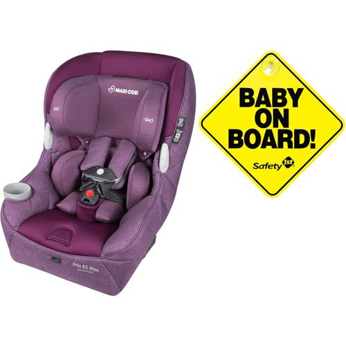 Check Out This Maxi-Cosi Pria 85 Max Convertible Car Seat - Nomad Purple with Bonus Baby on Board Si...