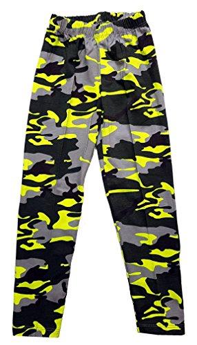 Unbekannt Mädchen Leggings Camouflage Tarn Hose in Gelb, Gr. 98, M1.7