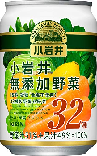 小岩井 無添加野菜 32種の野菜と果実 280g×24本 缶