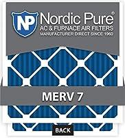 Nordic Pure 16x24x4M7-1 MERV 7 Pleated AC Furnace Air Filter, 16x24x4, Box of 1 [並行輸入品]