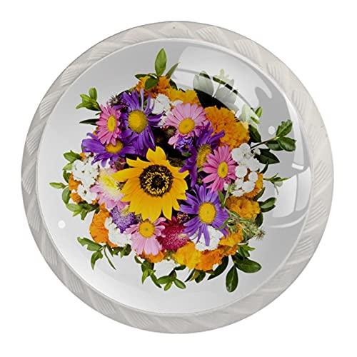 Flores, Moderno Minimalista De Impresión Armario Manija De Cajón De La Manija Del Armario De La Manija De La