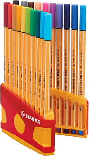 STABILO Point 88 Füllfederhalter Multi, 11 cm, 18 cm, 3,5 cm, mehrfarbig