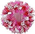 Valentine's Day Mesh Door Wreath; Red Pink White Purple