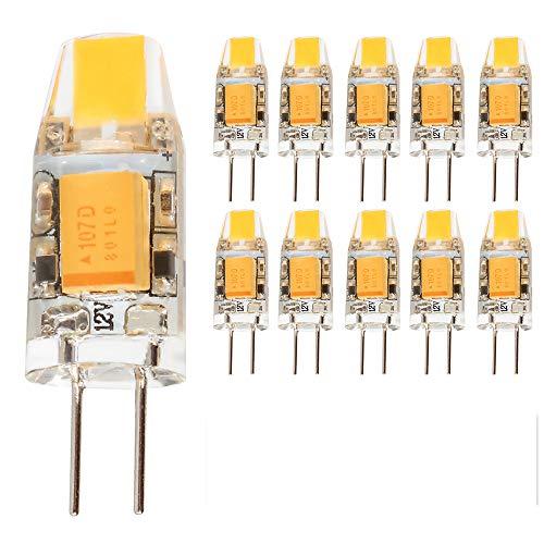 mengjay® 10 pieza G4 1.5 W LED lámparas, 110-130 lm, 1.5 W equivalente a 10 W bombillas halógenas, luz Blanco cálido (2700-3000K), 12V AC, G4 LED Bombilla