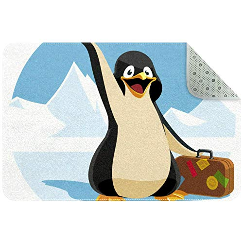 Bennigiry Cartoon Travel Penguin Holding Suitcase Area Rugs Rug Mat Carpet for Living Room Bedroom Playing Room Carpets,31'x20'
