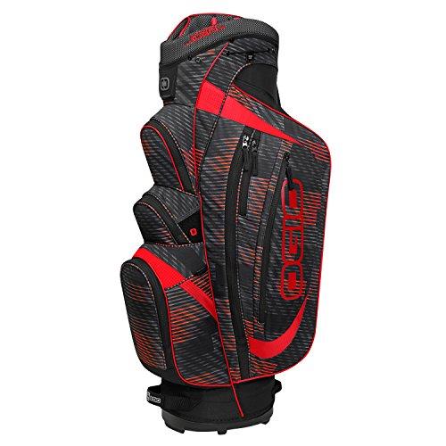 Ogio-Borsa da Golf con Carrello, Motivo: Buzzsaw trinciatore, Colore: Rosso