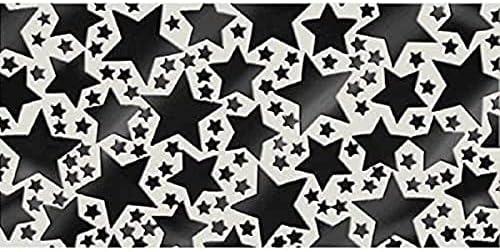 amscan Black Metallic Star Confetti   2.5 oz.   Party Decor   12