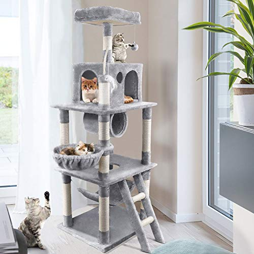 OOTORI 68 Inches Multi-Level Cat Tree,Condo Furniture Kittens Activity Tower,Pets Furniture for Kittens with Sisal-Covered Scratching Posts and Plush Condos