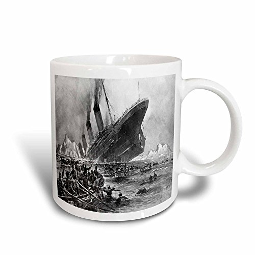 3dRose 1912 Artists Rendering of Sinking of The Titanic - Taza de...