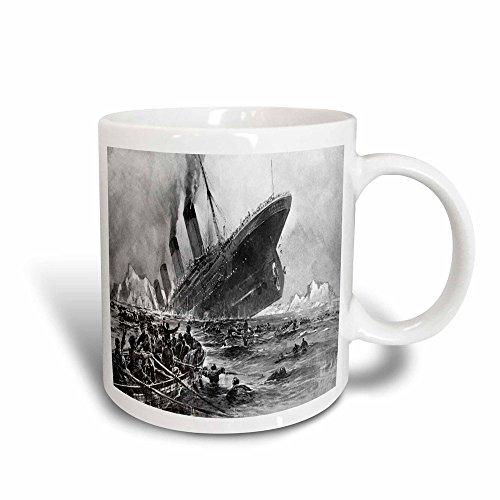 3dRose 1912, von der Titanic, Magic zu Kaffeebecher, Keramik, Mehrfarbig, 10,16x 7,62x 9,52cm