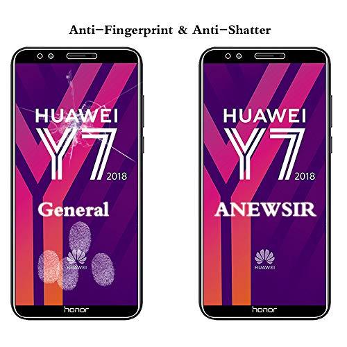 ANEWSIR Schutzfolie für Huawei Y7 2018/Y7 Prime 2018/Huawei Honor 7C, 9H Härte, Anti-Kratzen, Anti-Bläschen, Displayschutzfolie Folie Screen Protector [2 Stück] - 5