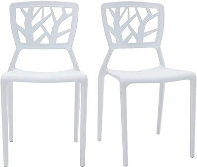 Designetsamaison Chaise Design Blanche Verdi: