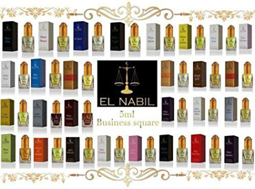 El Nabil 5ml Véritable Attar Parfum Sans Alcool Musk Oud Roll Haute Qualité (Oud Black)