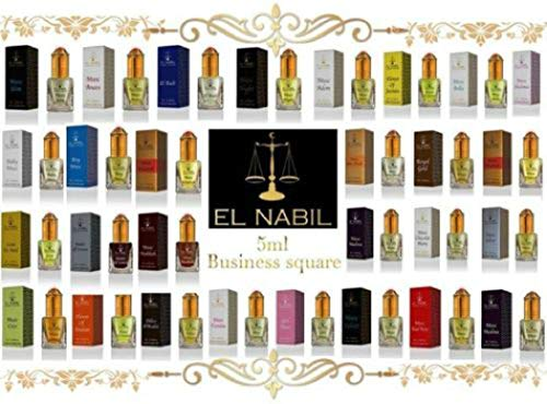 El Nabil 5ml Véritable Attar Parfum Sans Alcool Musk Oud Roll on Haute Qualité (Royal Gold)