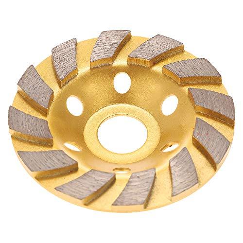 Kkmoon 100mm 10,2cm, forma del diamante segmento mola disco smerigliatrice Cup 22mm foro interno per calcestruzzo granito pietra pietra ceramica terrazzo marmo per l' edilizia