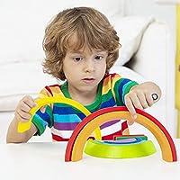 Lewo di Legno Arcobaleno Giocattolo di apprendimento Geometria Costruzioni Puzzle Giochi Educativo 7 Pezzi #3