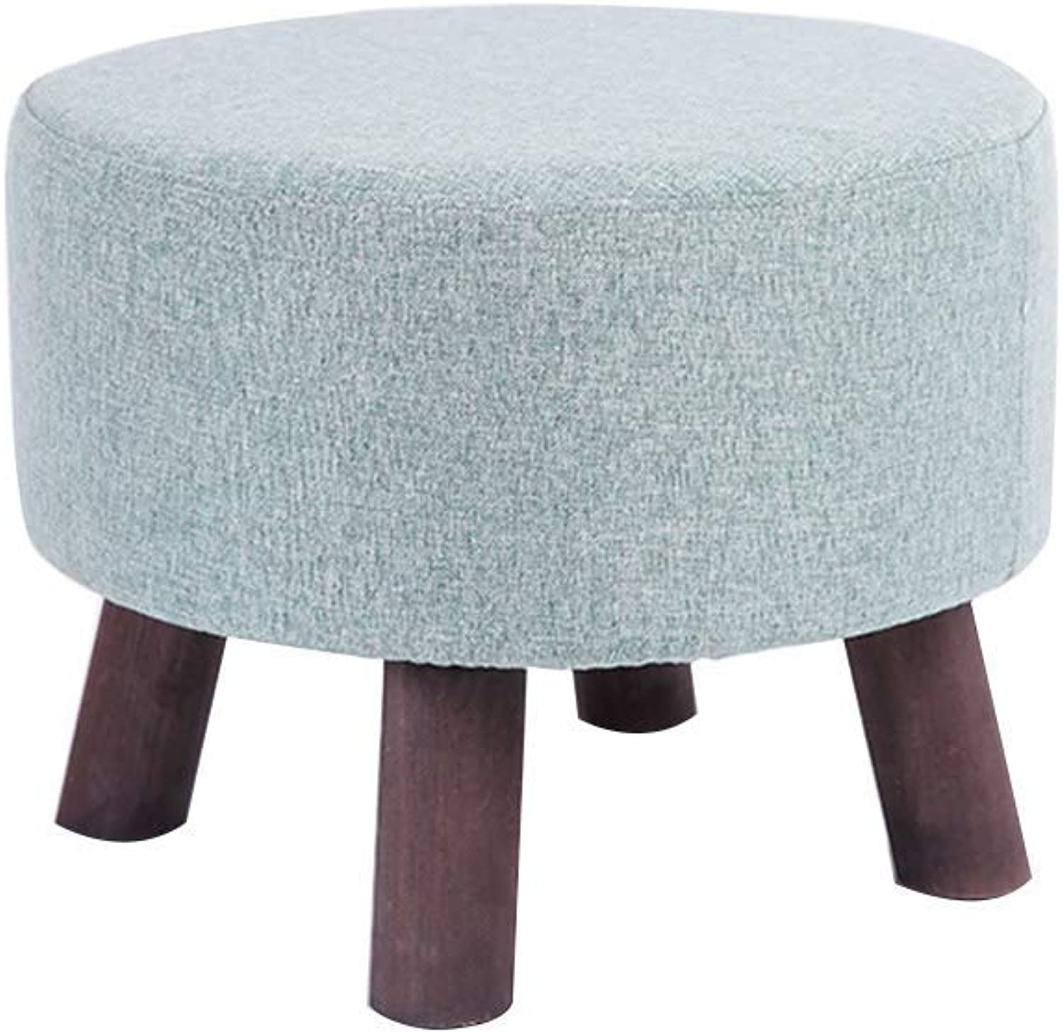 Comfortable Lounge Chair Solid Wood Stool Cotton Linen Sofa Stool