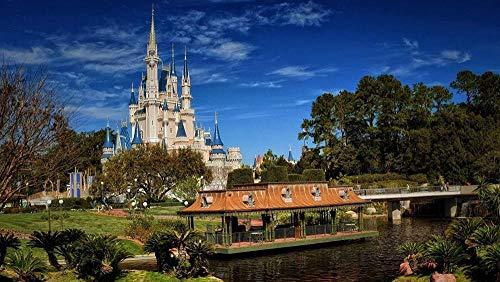 YYTTLL Classic Puzzle 1000 Stück Puzzle Für Erwachsene Kinder DIY Walt Disney World Holzpuzzle Modern Home Decor Festival Geschenk Intellektuelles Spiel