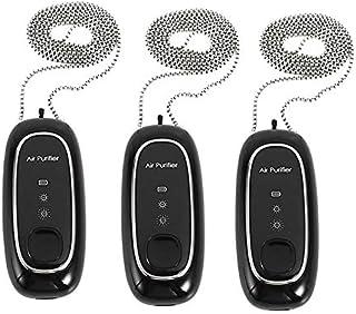 SNOWINSPRING Collar Usable del Purificador de Aire del Purificador de Aire PortáTil de 3Pcs USB