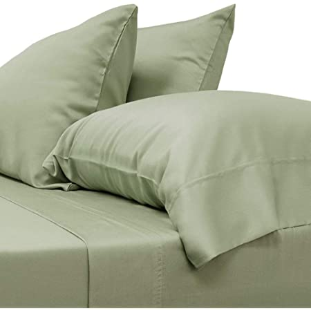 Amazon Com Cariloha Classic Bamboo Sheets 4 Piece Bed Sheet Set Softest Bed Sheets And Pillow Cases 1 Year Limited Quality Warranty King Sage Home Kitchen