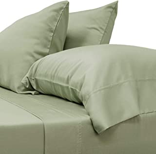 Cariloha Classic Bamboo Sheets 4 Piece Bed Sheet Set - Softest Bed Sheets and Pillow Cases - Lifetime Protection (Queen, Sage)