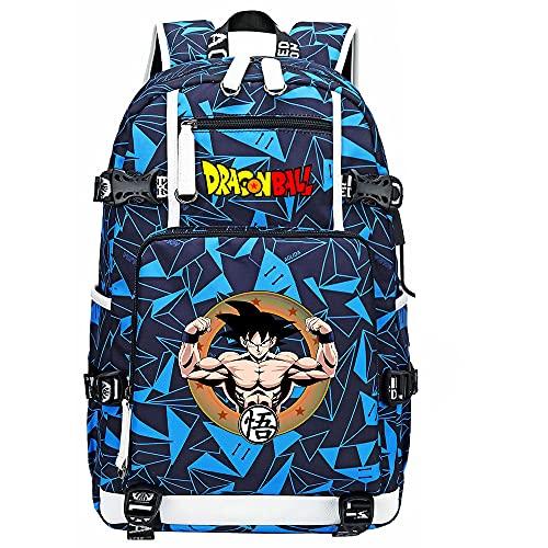 ZZGOO-LL Dragon Ball Super Son Goku/Vegeta IV/Torankusu Backpack Casual Rucksack Waterproof Business Travel with USB Unisex-F