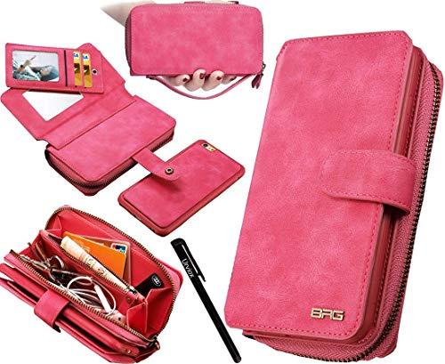 Urvoix iPhone 8 Case, iPhone 7 Case, iPhone 6S Case, Premium Leather Zipper...