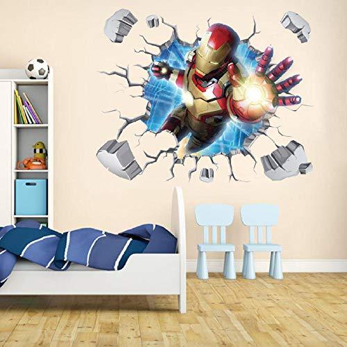 3D Cartoon Wandaufkleber Iron Man Avengers Wohnzimmer Wandaufkleber Tapete