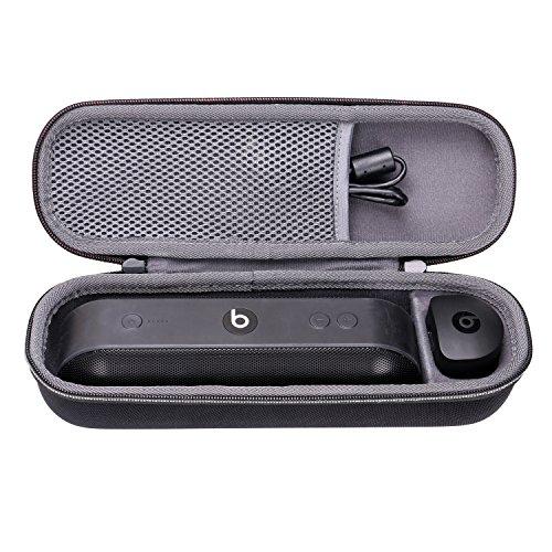 Tasche für Beats Pill+ mobiler kabelloser Bluetooth Lautsprecher XANAD Schwarz Case for Beats Lautsprecher