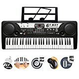 61 Key Electronic Keyboard Digital Piano Workstation MP3 Music Instrument With Microphone, USB