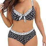 2021 Nuevo Vestido de Traje de Baño Bikinis Talla Grande con Pantalones Ropa de Playa Conjunto de Bikinis Punto de Onda Impresión Push up Tankinis Mujer Beachwear Bañador Mujer