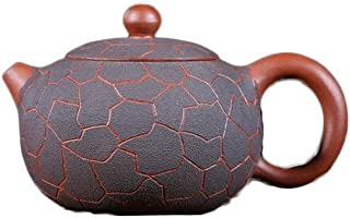 SHENLIJUAN Zisha pot Yixing original mine Kungfu tea set Ice pattern Xi Shi pot traditional handmade teapot (Color : Clear cement)